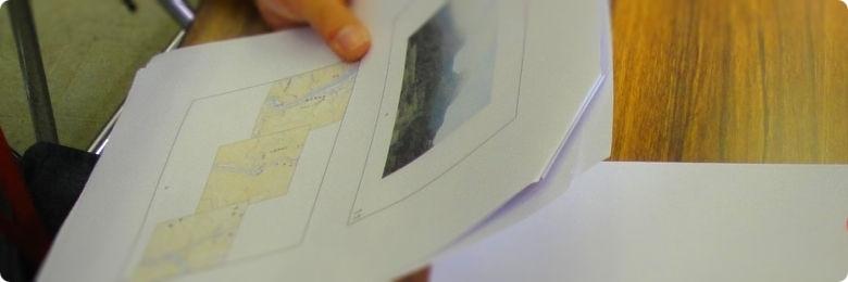 地図と写真を使ったコミュニケーションゲーム